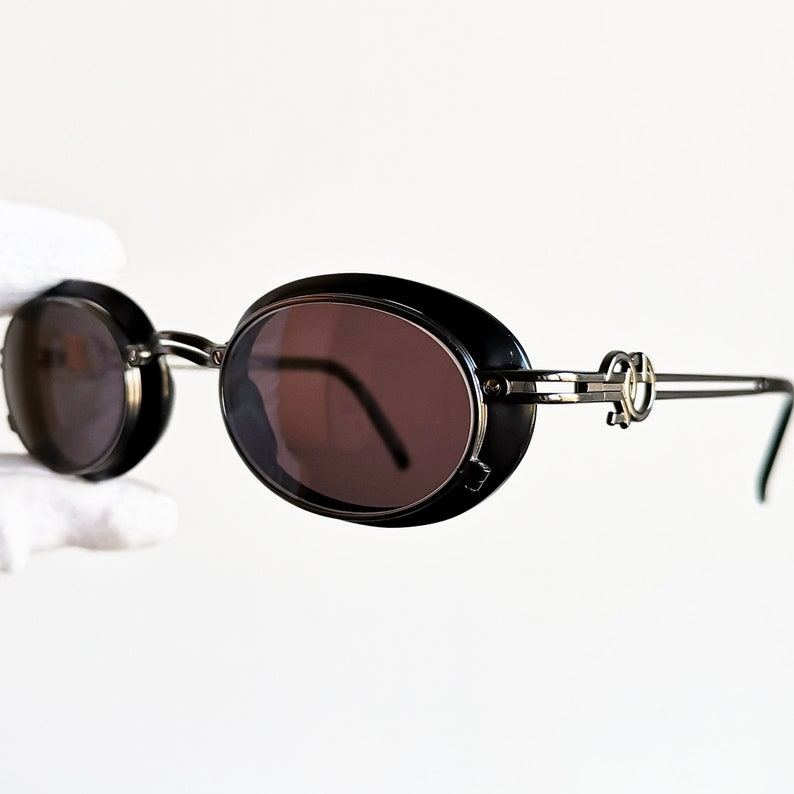 8f58f427219d JEAN PAUL GAULTIER vintage Sunglasses Jpg rare oval side