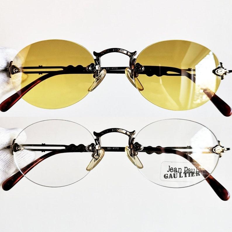 244a2db07e9 JEAN PAUL GAULTIER vintage Sunglasses Jpg rare oval clear