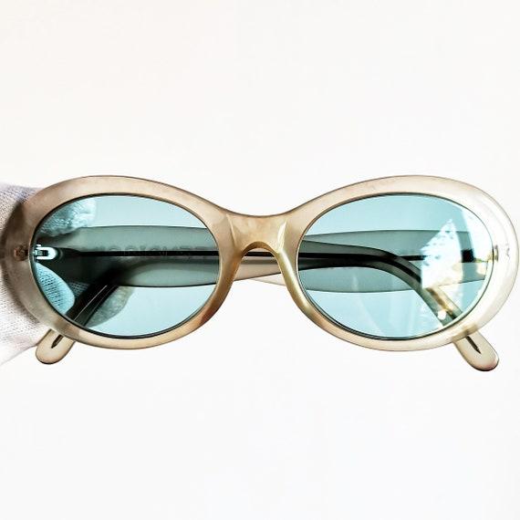 scarpe sportive 8bd26 6ae7d Occhiali FENDI vintage occhiali da sole raro ovale chiaro FENDISSIME Peso  telaio Kurt Cobain stile nuova luce blu lenti trasparenti