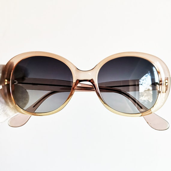 Pink Oval Sunglasses Vintage Rare Clear Round Sabel Clout Etsy