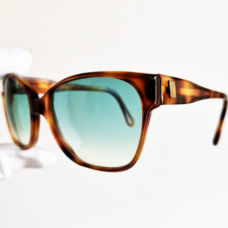 c76e7133ca YVES SAINT LAURENT vintage sunglasses Ysl rare square tortoise