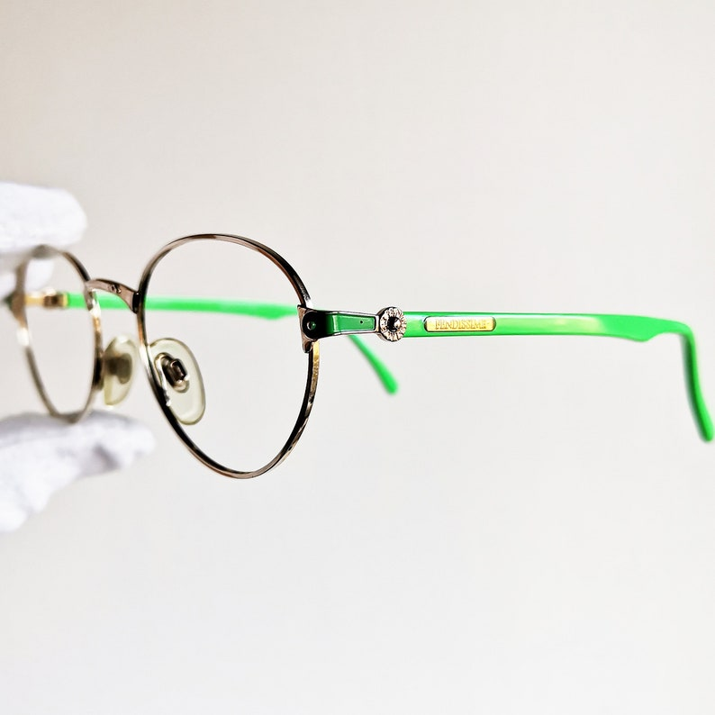 3d6567fafd3d9 FENDI vintage Eyewear rare Eyeglasses oval gold round