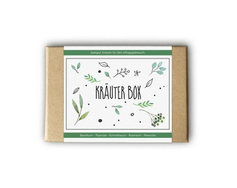 Herb box – also as a personal gift idea - seeds and seeds for the garden
