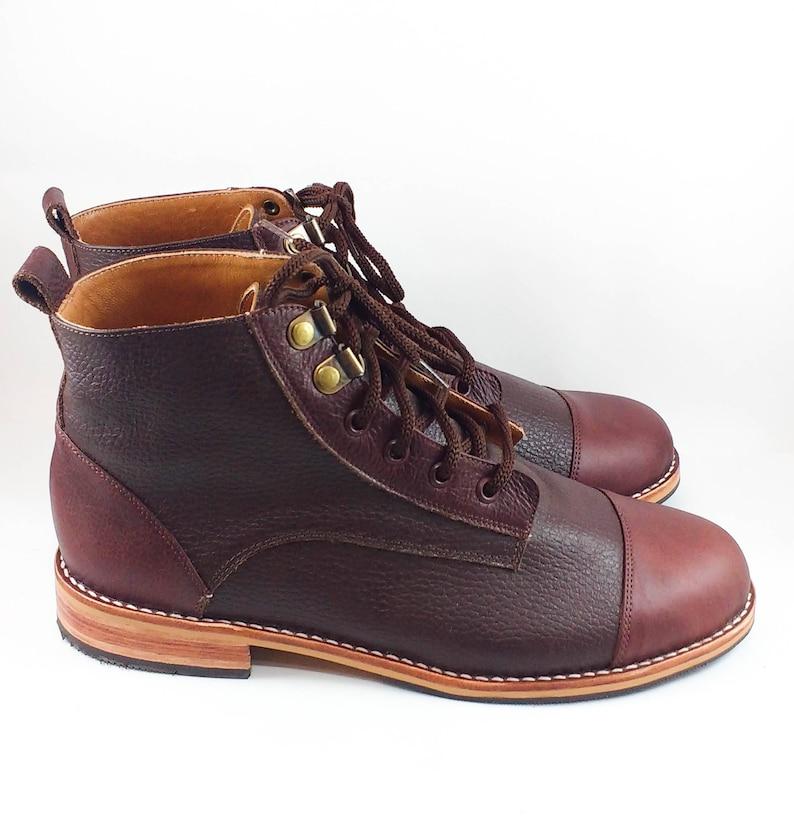 7e4aaec3b2 Botas de cuero para hombre botas casuales con cordones