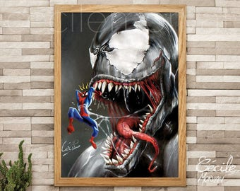 Limited edition poster Spiderman vs Venom