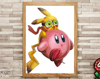 Limited edition poster Pika Kirby