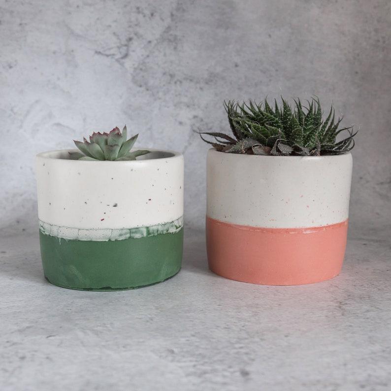 Forestemerald green terrazzo Jesmonite plantutensil pot