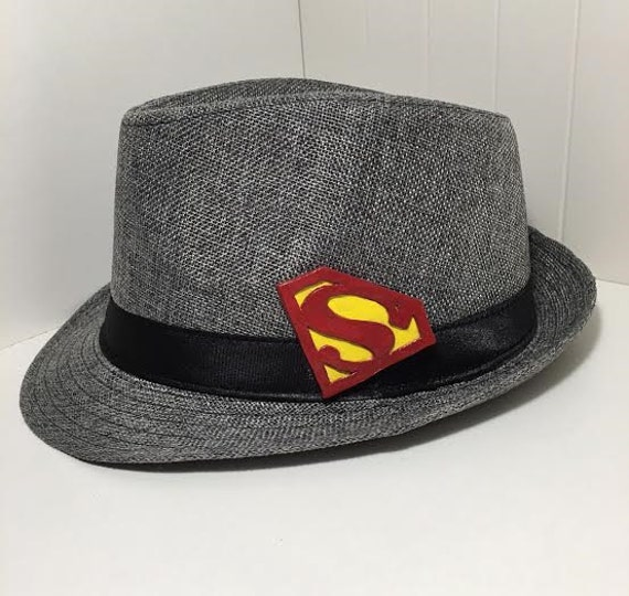 Items similar to Superman Inspired Trilby Fedora Hat on Etsy b9b7b16968d