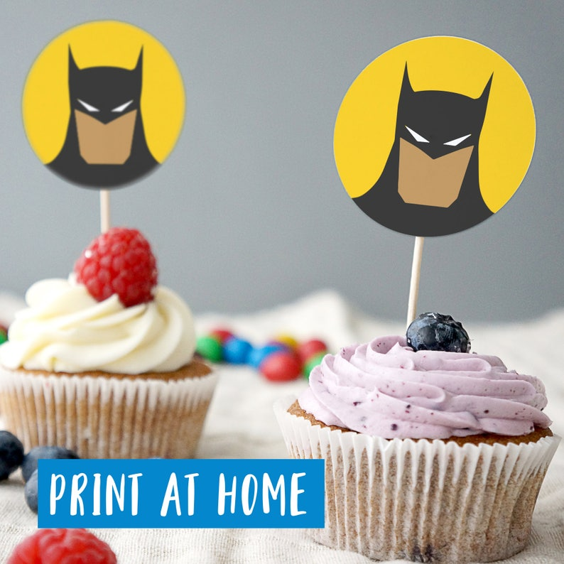 graphic relating to Batman Cupcake Toppers Printable called Batman Cupcake Toppers, PRINTABLE Batman Cake Topper, Batman Get together Decorations, Batman cake toppers, Electronic Record, Print Your Private Batman
