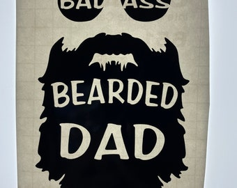Carpenter Certified Bad Ass 2 PACK of stickers 4inch tall each funny decals