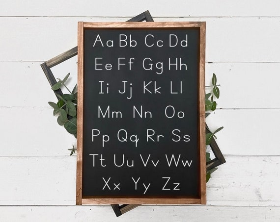 Alphabet wall sign