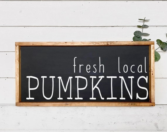 Fresh local pumpkins