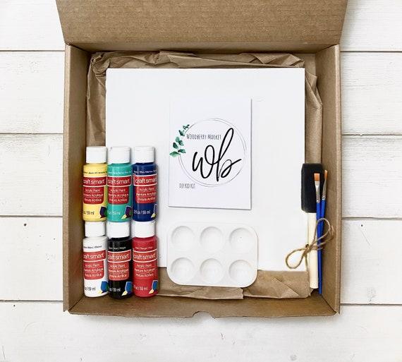 DIY kid craft kit, Kids wood sign, Do it yourself wood painting, Kids activities, Kids crafts, Kids painting, Superhero, Rainbows, Llamas