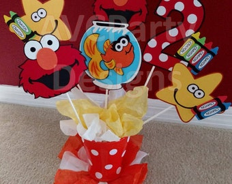 Sesame Street Elmo Birthday Party Decoration Centerpiece