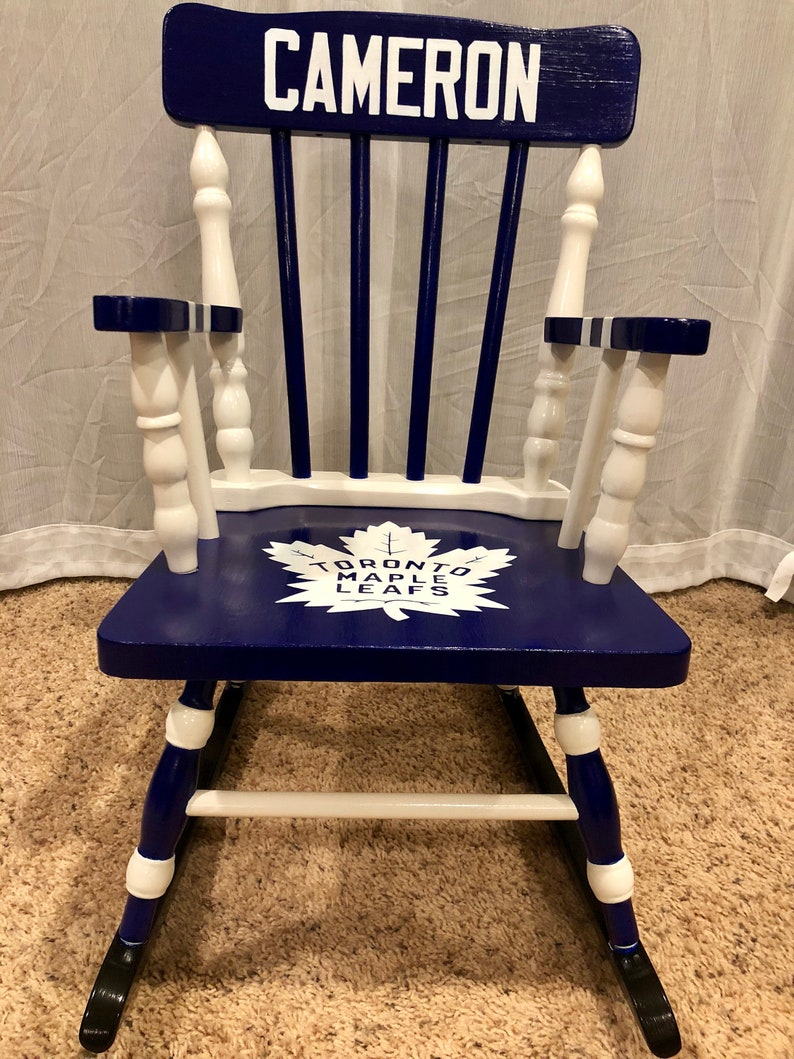 Astonishing Toronto Maple Leafs Chair Personalized Nhl Chair Childrens Rocking Chair Personalized Rocking Chair Hockey T Sports Nursery Alphanode Cool Chair Designs And Ideas Alphanodeonline