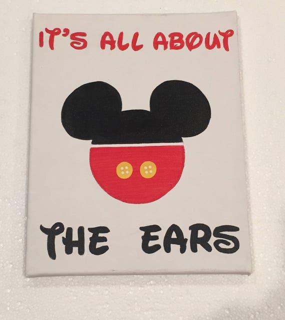 Mickey Mouse Canvas Art Nursery Decor