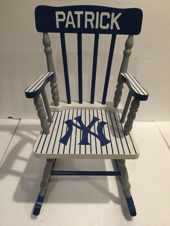 New York yankees nursery New York Yankees Yankees gift New York yankees bedroom New York Yankees rocking chair yankees kids