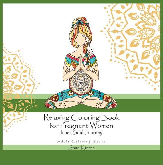 Embarazo regalos aviso del embarazo: relajante para colorear | Etsy