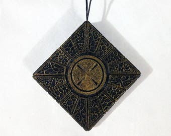 Hellraiser Cube Christmas Tree Ornament, LeMarchand's Puzzle Box hanger, Clive Barker Pinhead Horror Themed Hanger