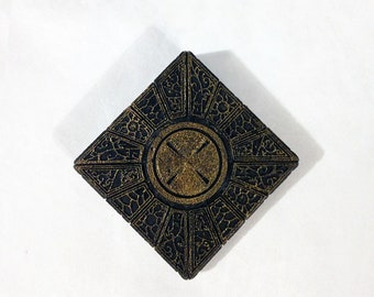 Hellraiser Cube Magnet, LeMarchand's Puzzle Box Magnet Ornament, Clive Barker Pinhead Horror Themed Magnet
