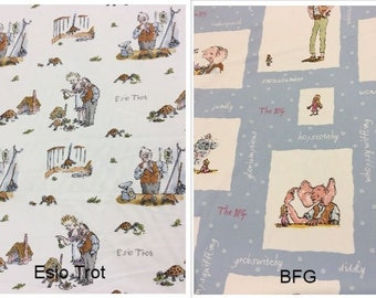 Riley Blake Fabric Roald Dahls James and The Giant Peach Sketches White HALF MET