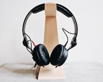 Headphone holder printed in wood / desk organizer / original gift for him or her