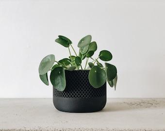 Original planter gift Thanksgiving SAVANNE Indoor black plant pot