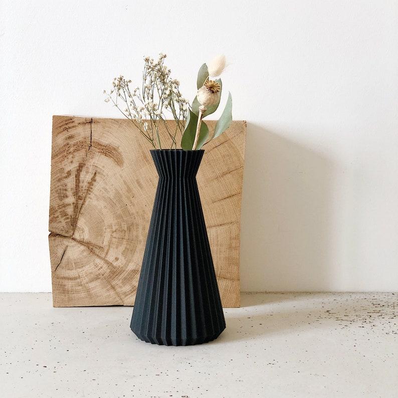 Vase ORIGAMI  dry flowers  Original gift for her image 0