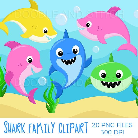 Shark Family Clipart Set Baby Shark Clipart Designs Shark Etsy Pngtree offers baby shark clipart png and vector images, as well as transparant background baby shark clipart clipart images and psd files. shark family clipart set baby shark clipart designs shark baby clip art illustrations cute shark pictures and background commerical use