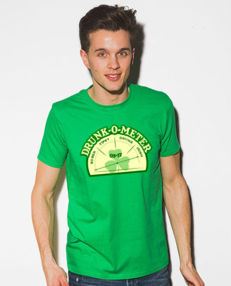 7e59ab7134703 Drunk-O-Meter - F15 - St Patricks Day Shirts, Irish T Shirt, Alcohol Shirt