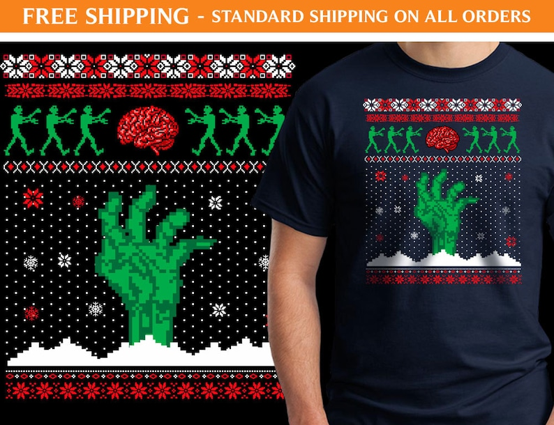 Zombie Christmas Sweater.Zombie Ugly Sweater Shirt Xmas055 Ugly Christmas Sweater Zombie Shirt Holiday Shirt Ugly Sweater Shirt Ugly Shirt