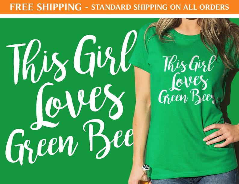 3a8a5b147 This Girl Loves Green Beer F20 St Patricks Day Shirts | Etsy