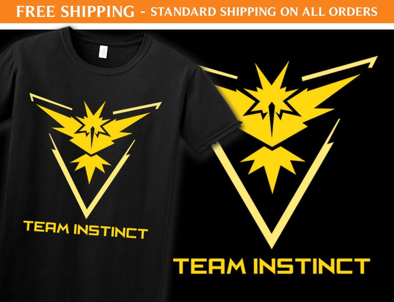 4112ae4e Team Instinct Shirt P01 Gaming Shirt Pokemon Go Shirt   Etsy