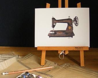 Singer Sewing Machine | Illustration Print