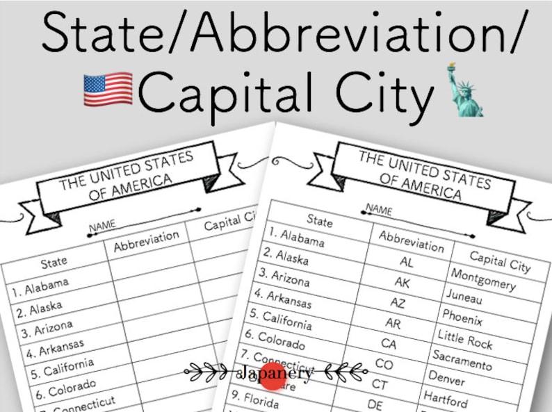 photograph relating to Printable State Abbreviations named United states Region Abbreviation/Cash Metropolis ChartHandoutPrintable