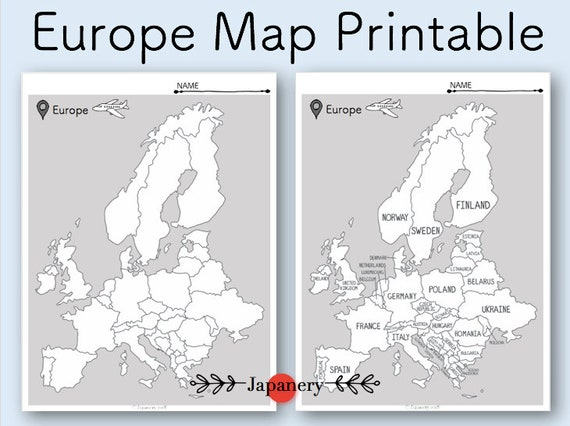 image about Printable European Maps called Europe Map Printable