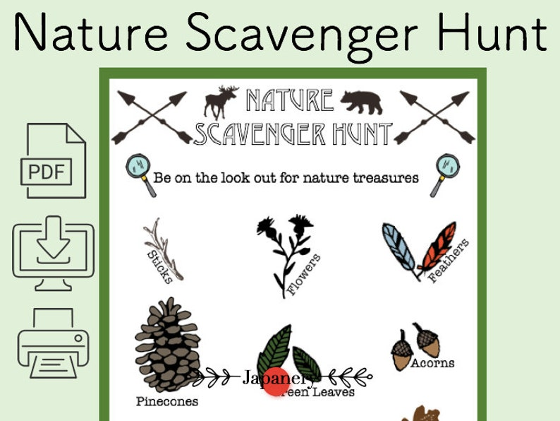 picture relating to Nature Scavenger Hunt Printable referred to as Mother nature Scavenger Hunt Printable