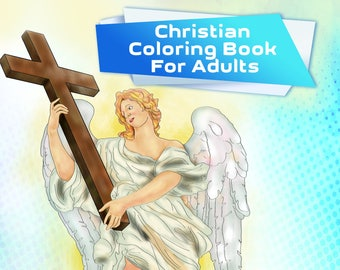 Christian Coloring Book: 30 Coloring Pages With Inspiring Biblical Quotes (Bible Verses, Religious, Inspirational, Word, Printable PDF)