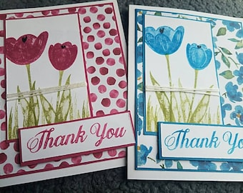 Tranquil Tulips Thank You Cards- Set of 2