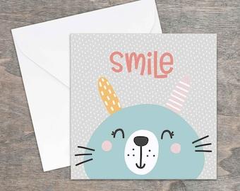 Smile printed card