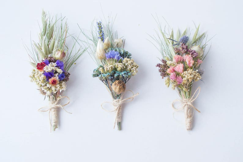 The boutonniere a Bridal bouquet groom's natural image 0