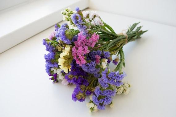 Trocknen Sie Bouquet Von Statik Getrocknete Blumen Helle Etsy