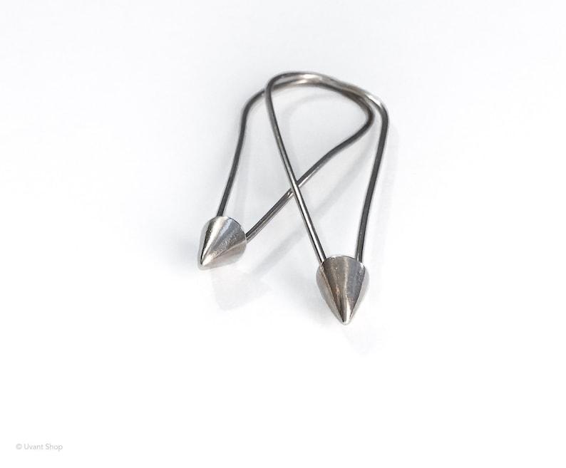 Sterling Oval Arrow Hoop Earrings  unique hoop earrings image 0