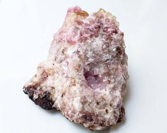 Rough Pink Cobalto Calcite ON SALE - light pink crystal for display, natural pink mineral specimen, house warming pastel crystal decor
