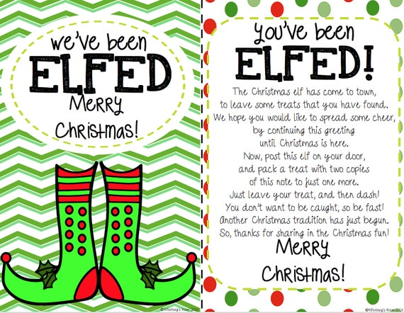 Epic image with regard to you ve been elfed printable