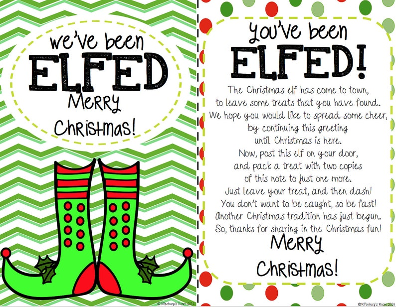 photograph relating to You Ve Been Elfed Printable named Youve Been Elfed Signal, Elf Printable, Elfed Signal, Elfed Printable, Vacation Printables