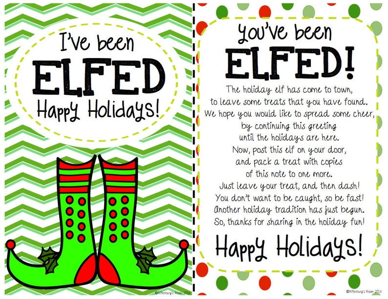 picture relating to You've Been Elfed Free Printable titled Ive Been Elfed Signal, Elf Printable, Elfed Indication, Elfed Printable, Vacation Printables