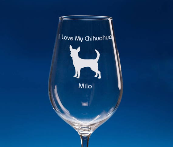 Chihuahua Dog Highball Glass Personalised Chihuahua Gift Dog Lover Gift