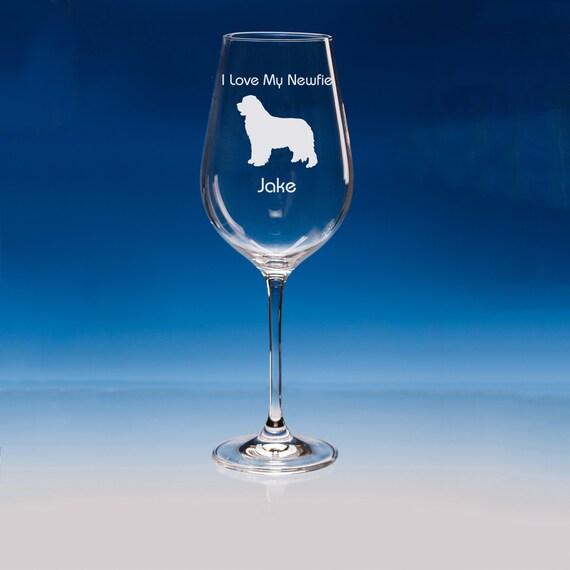 Newfoundland Dog gift Whisky Glasses