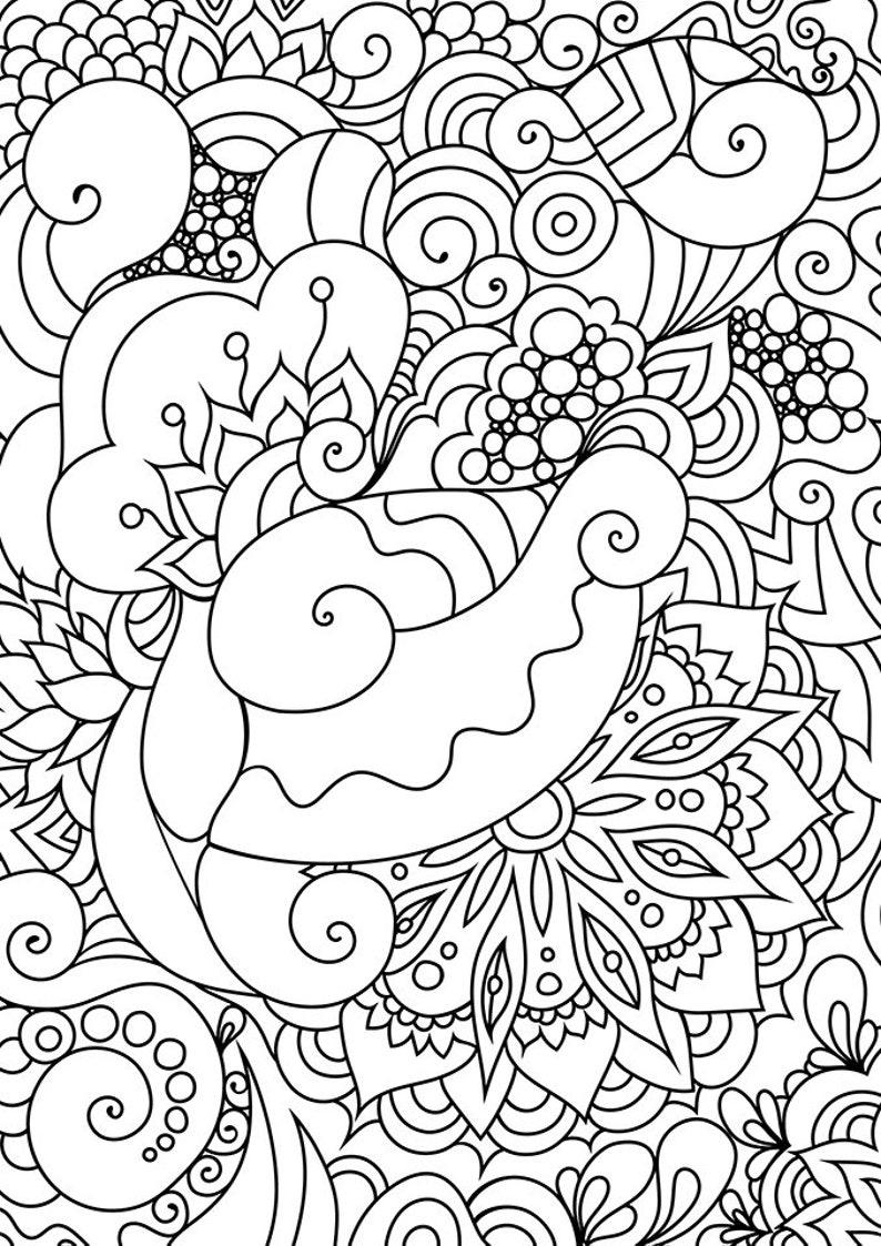 Doodle art coloring. Zen coloring page. Zen doodle ...
